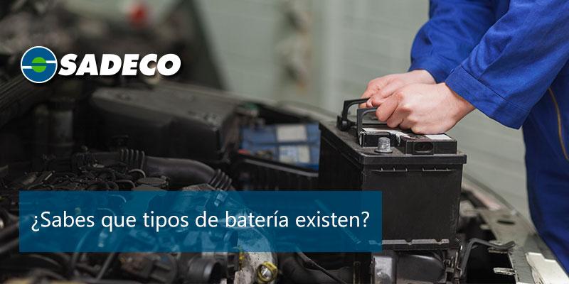 tipos de bateria de coche