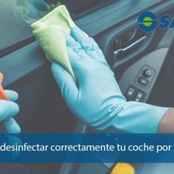 Cómo desinfectar el coche por dentro