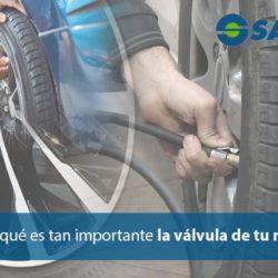 La válvula del neumático